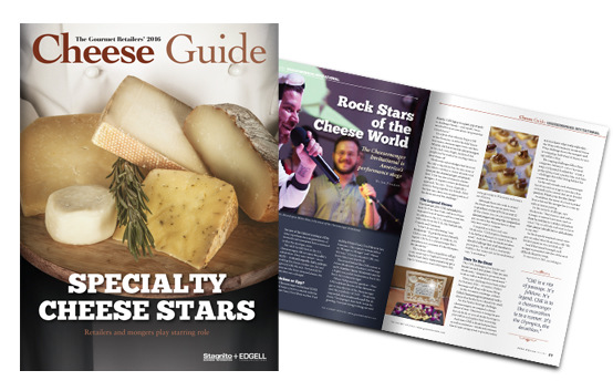 Brad Hofbauer - Graphic Design & Photography - The Gourmet Retailer - 2016 Cheese Guide layout and design