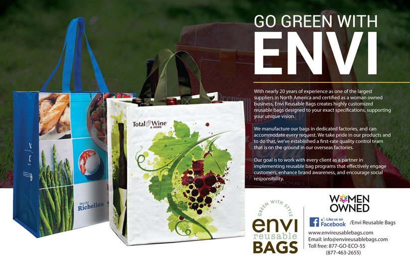 Brad Hofbauer - Graphic Design & Photography - Envi Reusable Bags - Magazine ad