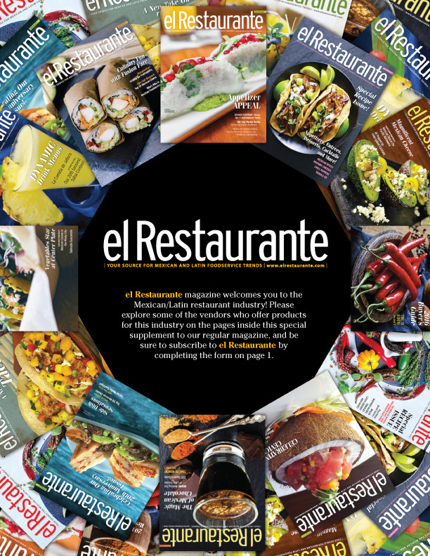 Brad Hofbauer - Graphic Design & Photography - el Restaurante - 2018 Promo issue cover design