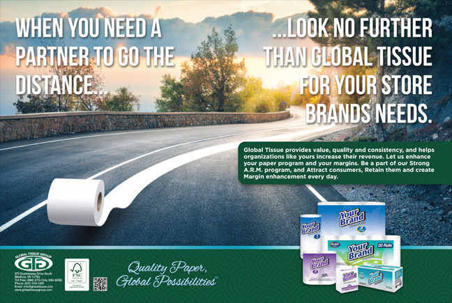 Brad Hofbauer - Graphic Design & Photography - 2-page spread composite - Global Tissue Group advertisement
