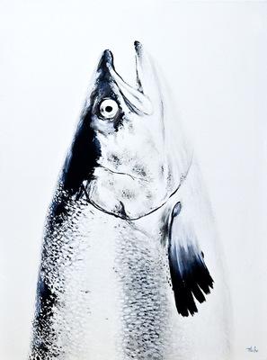 robert thibault - Saumon 92 cm x 122 cm