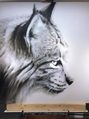 robert thibault - Lynx 160 cm x 160 cm