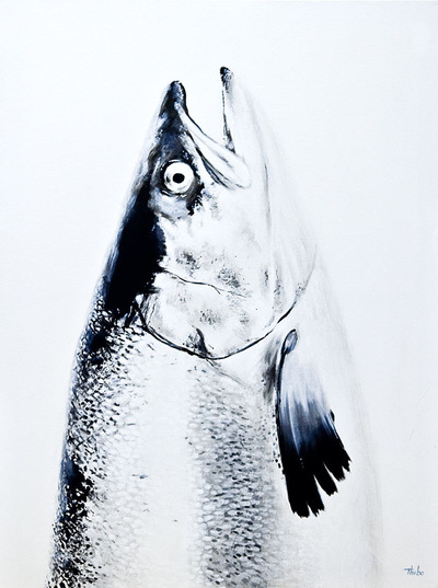 robert thibault - Saumon 36 po x 48 po
