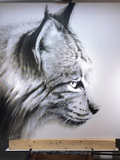robert thibault - Lynx 60 po x 60 po