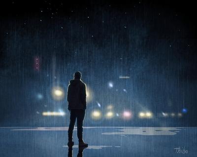 robert thibault - Un homme sur le toit
