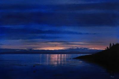robert thibault - Lheure bleue 24 po x 36 po