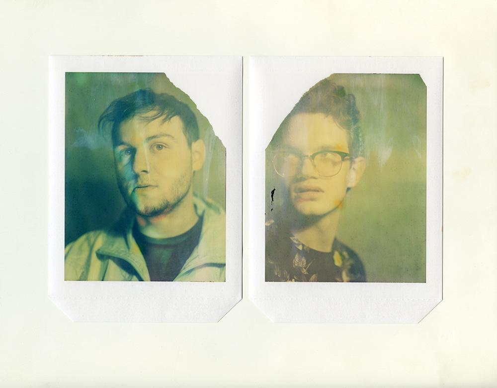 Brian Garbrecht - Justin & Matt Expired Polaroid type 58 4x5 instant film. 2018