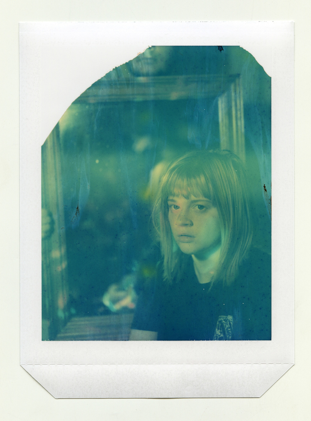 Brian Garbrecht - Reflecting Family Expired Polaroid type 58 4x5 instant film. 2018