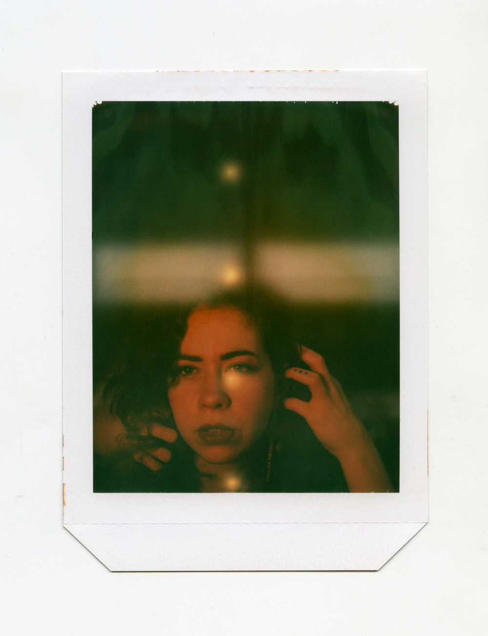 Brian Garbrecht - Dots Expired Polaroid type 58 4x5 instant film. 2018