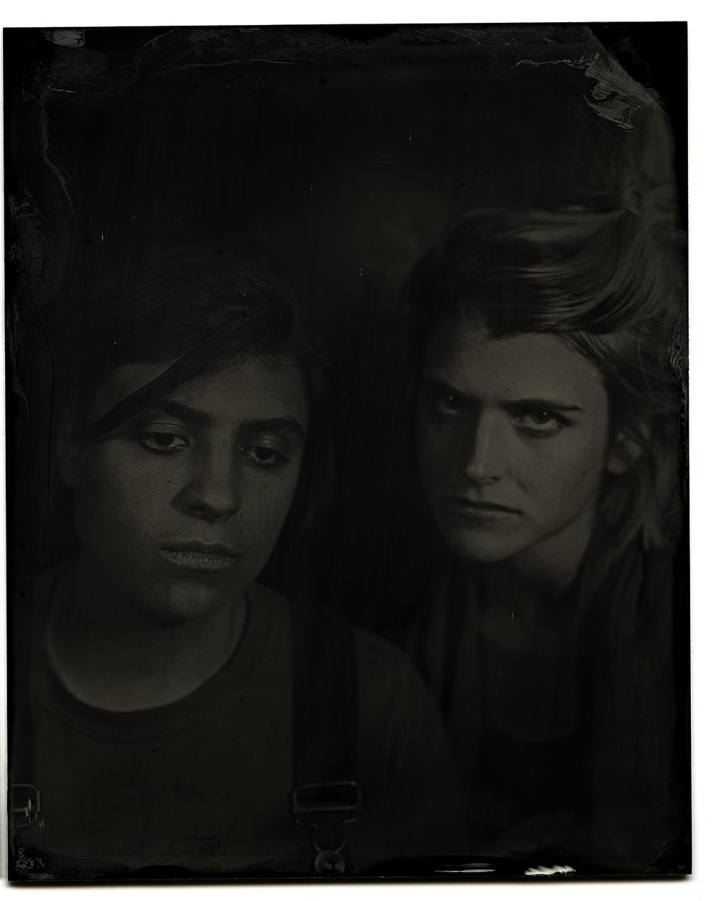 Brian Garbrecht - Rebecca Lasaponaro and Hannah Mohan of And The Kids. Chicago, IL. 2017. Tintype