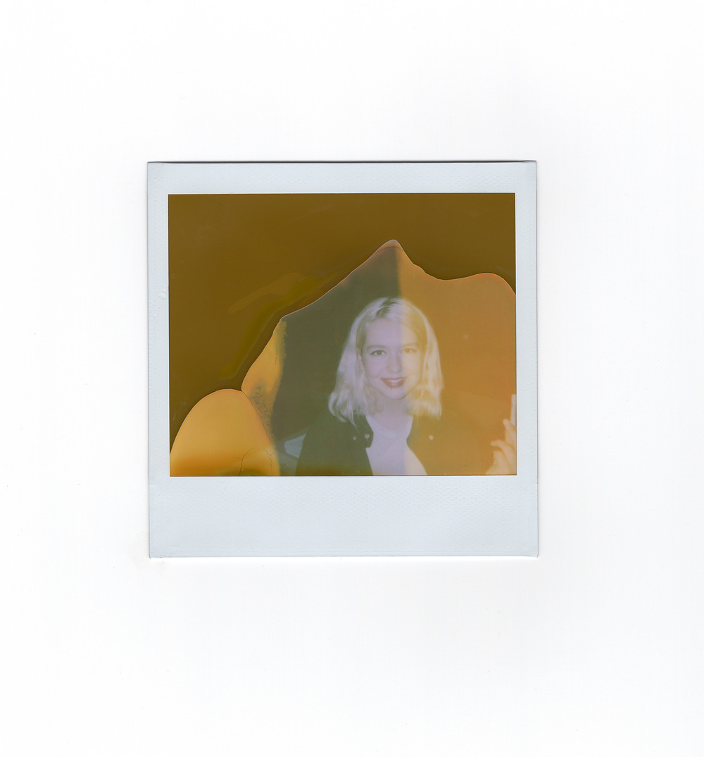 Brian Garbrecht - Lindsey Jordan of Snail Mail. Chicago, IL. 2018. Expired Instant Film