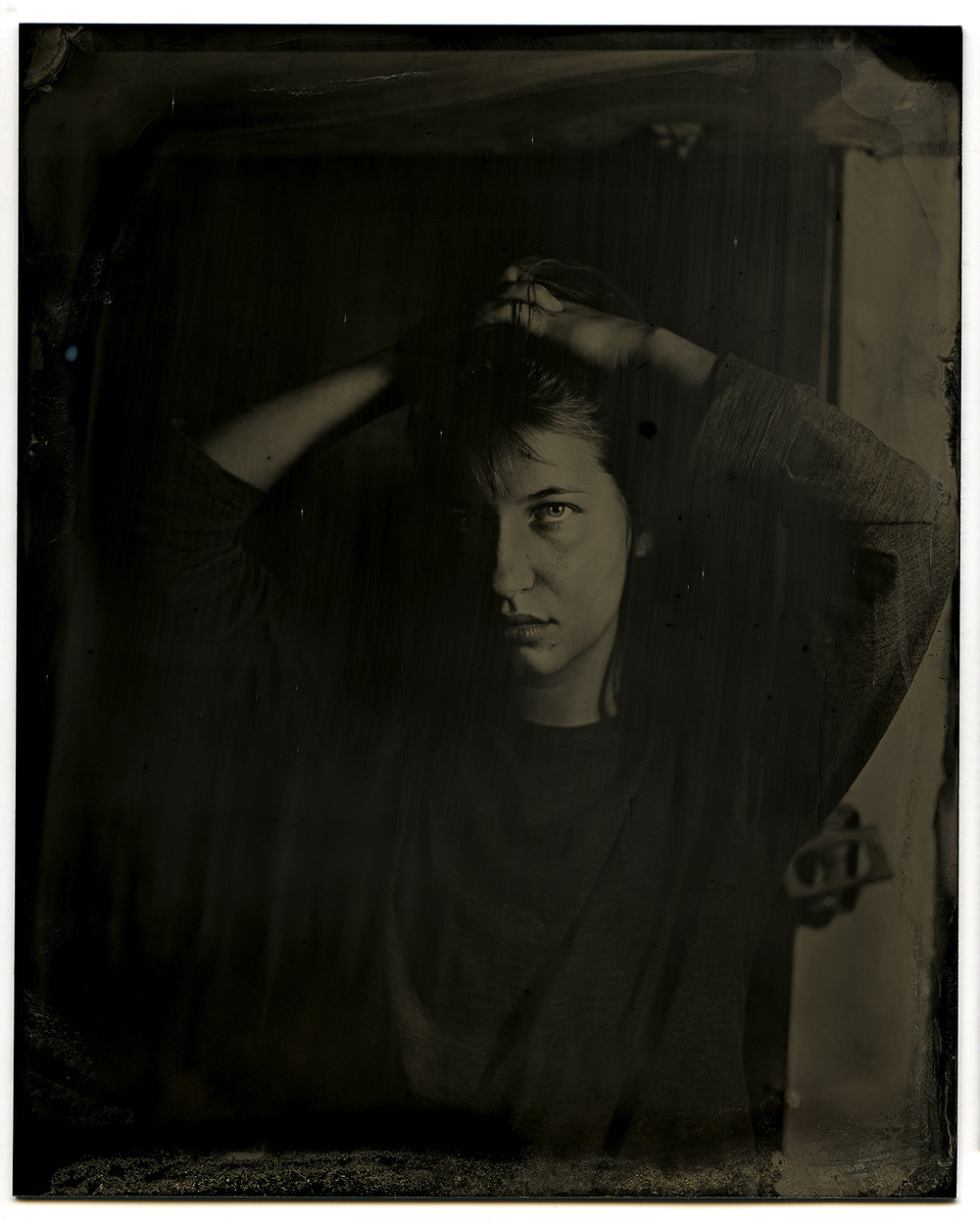 Brian Garbrecht - Taliana Katz of And The Kids. Chicago, IL. 2017. Tintype