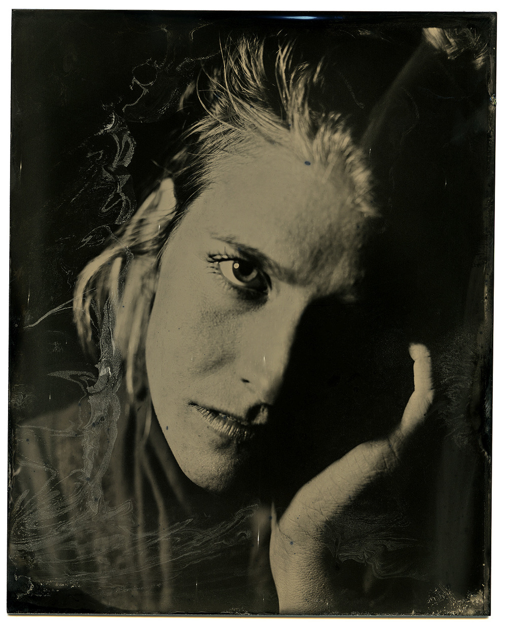 Brian Garbrecht - Hannah Mohan of And The Kids. Chicago, IL. 2017. Tintype