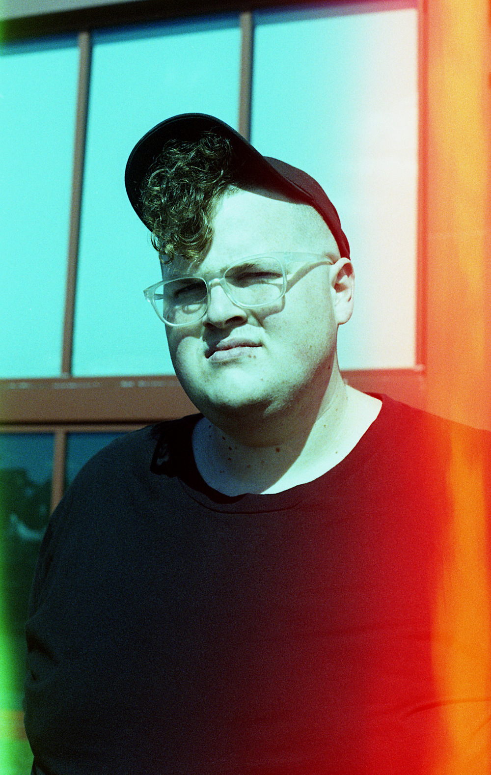 Brian Garbrecht - Michigander. Kalamazoo, MI. 2018. Light Leaked Color Film.
