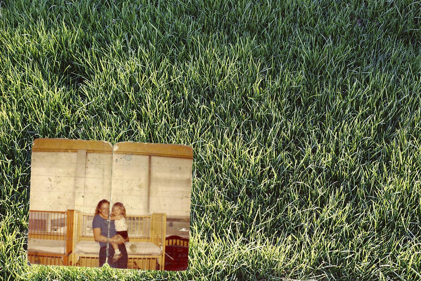 Brian Garbrecht - Deborah Cerveny 1963-2014 2019. Family Archive atop Scanned Negative.