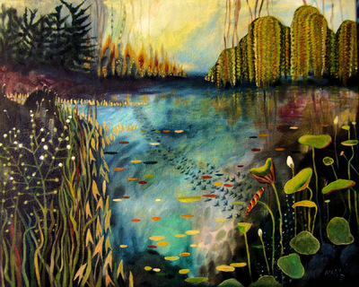 Mary Sundstrom - Annabels Bayou 20x 24 SOLD