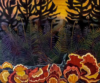 Mary Sundstrom - Chicken of the Woods 30x 40 SOLD