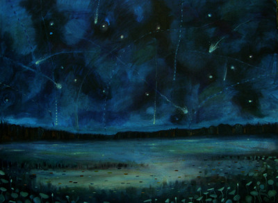 Mary Sundstrom - Meteor Shower 30x 40 SOLD