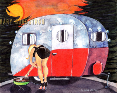 Mary Sundstrom - Pin Up Grill 8x 10 signed print $20.00
