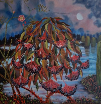 Mary Sundstrom - Elberberry 30x 30 Available $1400