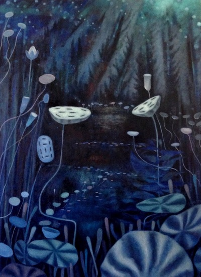 Mary Sundstrom - Nocturne Blue 30x 40 SOLD