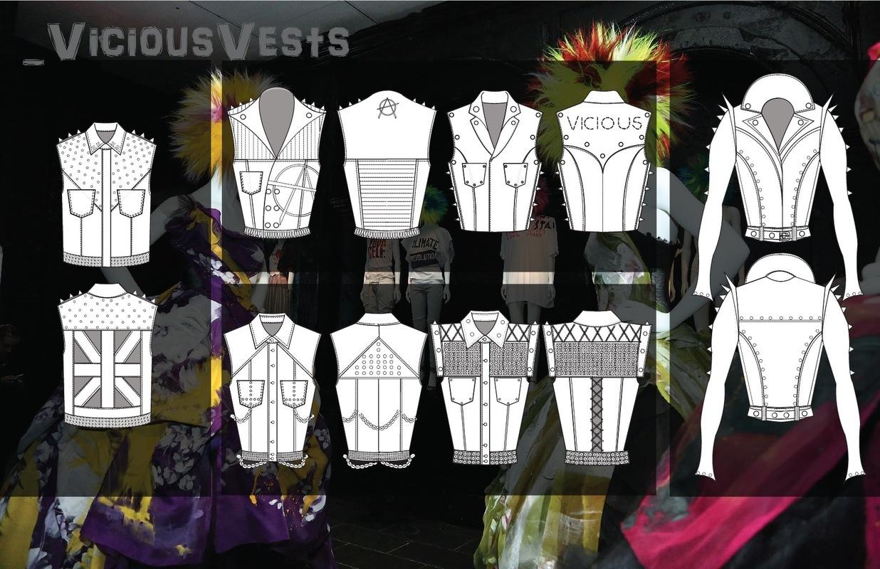 shelby nicole arata fashion design portfolio - Vicious Vest flats