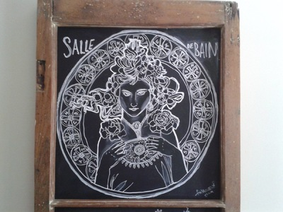Annie Maheux Works - Chalkboard Mucha replica. June 2015.