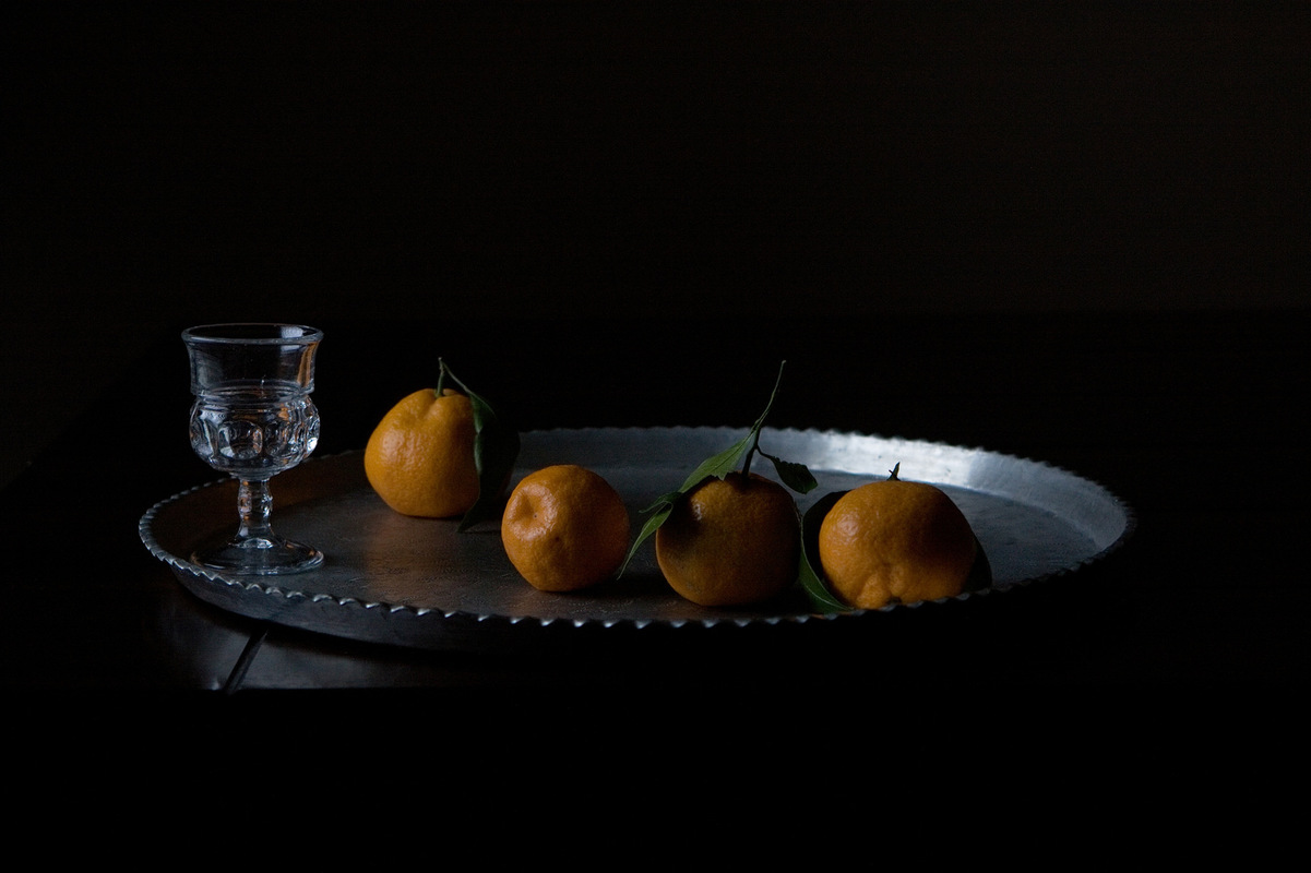 Still Life by Rachel Slepekis - Four Oranges