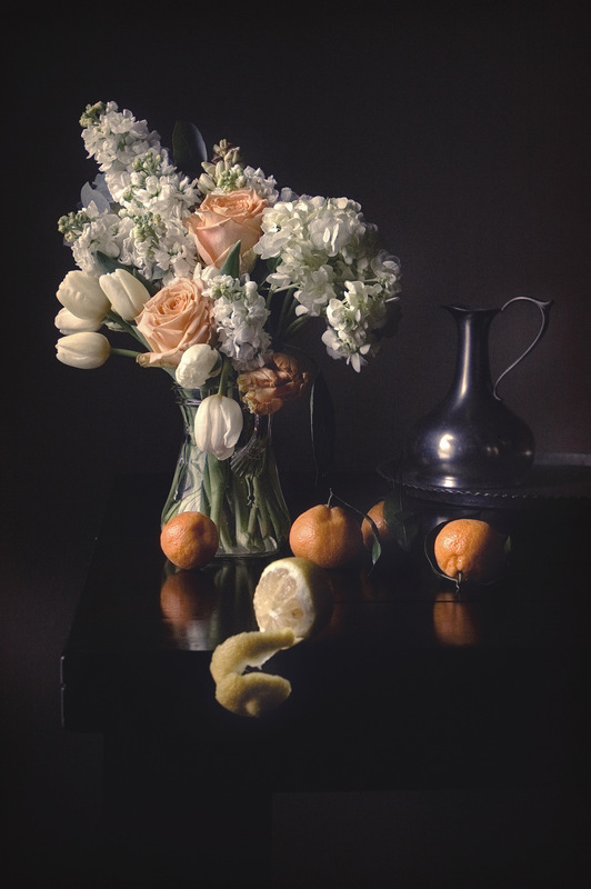 Still Life by Rachel Slepekis - Roses & Lemon