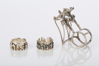 Hosanna Rubio Metals and Jewelry - Series of three rings