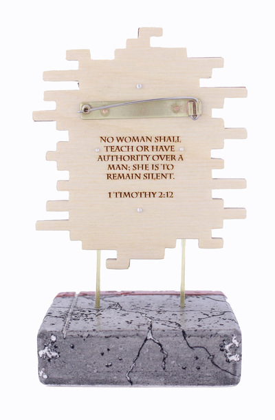 Hosanna Rubio Metals and Jewelry - 1 Timothy 2:12 Back detail