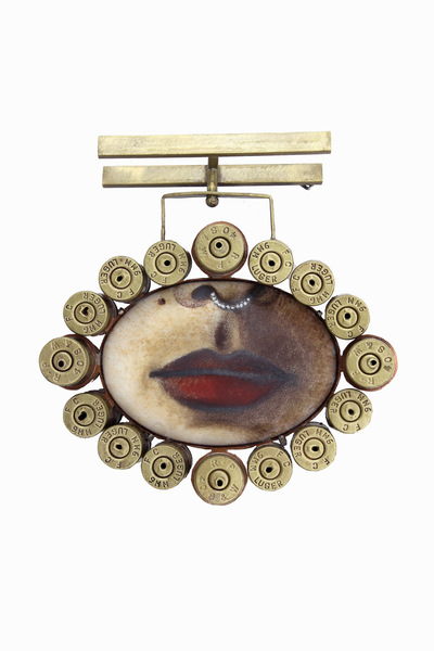 Hosanna Rubio Metals and Jewelry - Gun for a mouth and a bullet with your name on it