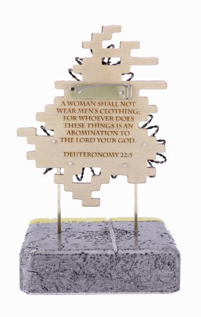 Hosanna Rubio Metals and Jewelry - Deuteronomy 22:5 Back detail