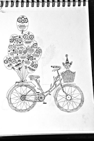 Portafolio - Bicicleta de madera con motivos mexicanos 2013
