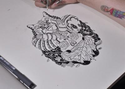 Portafolio - Skull and wolf 2012