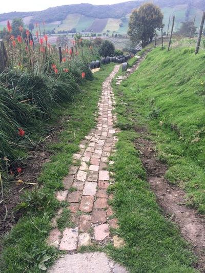 Ciudad Sostenible - Sendero ecológico con llantas reutilizadas