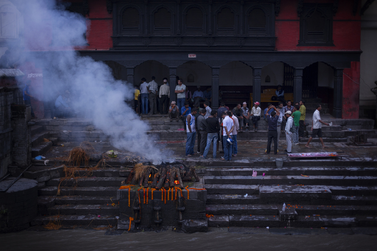 Jennifer Gonzalez | Multimedia Photojournalist - A funeral service at Pashupatinath Temple in Kathmandu. Nepal, 2013.