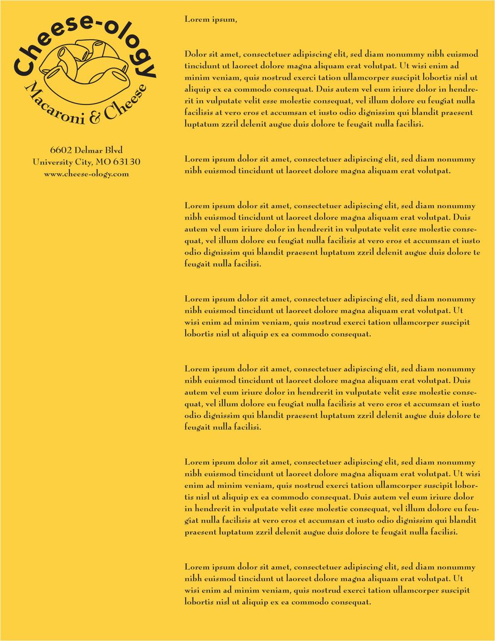 Artist Pen - Cheeselogo letterhead example