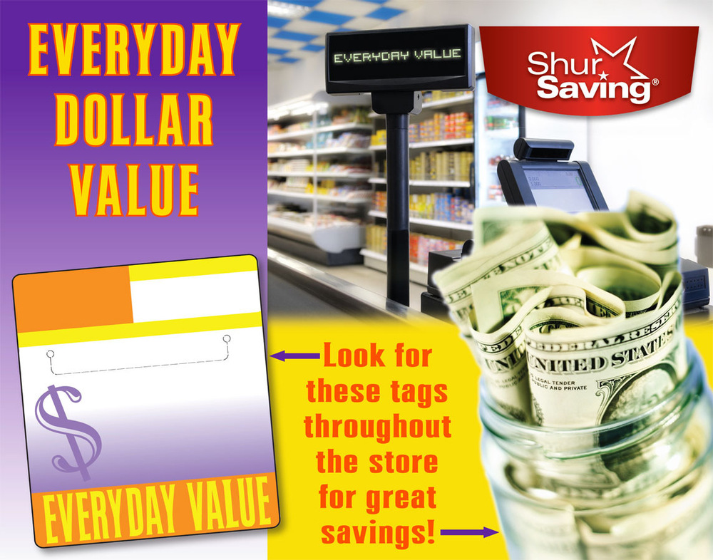 Artist Pen - Window Sign for Everyday Dollar Savings
