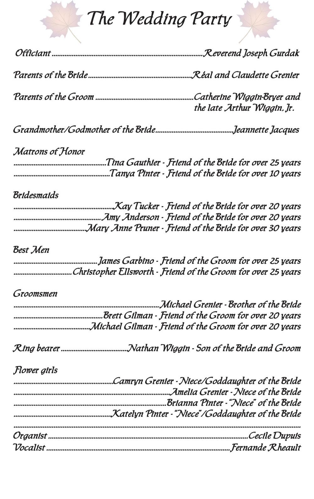 Artist Pen - Wedding Booklet Page 4