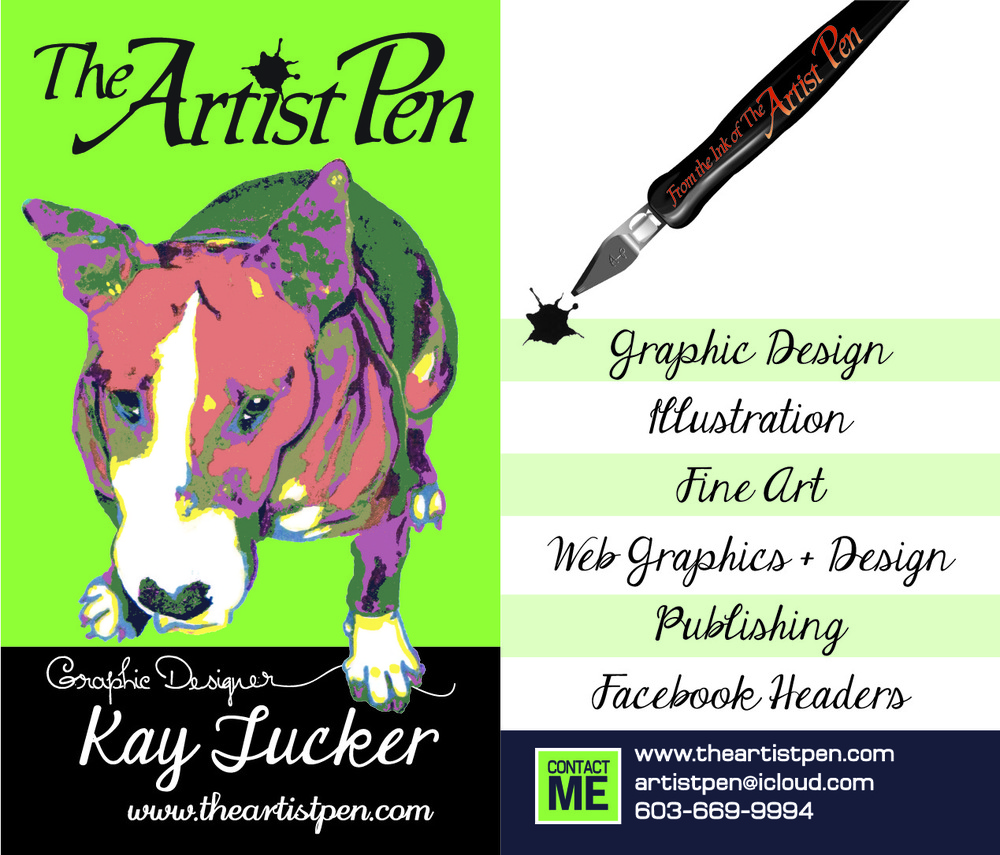 Artist Pen - Front/Back My Business Card
