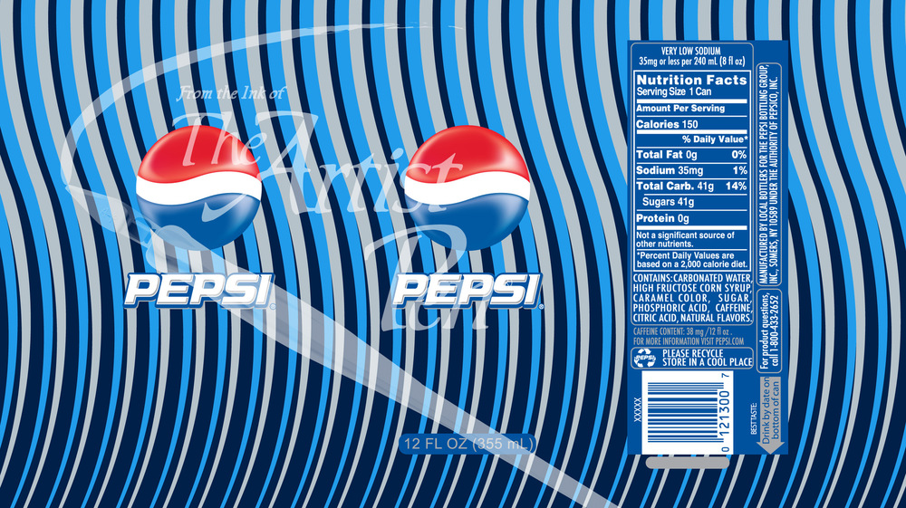 Artist Pen - Pepsi Can wave design theme