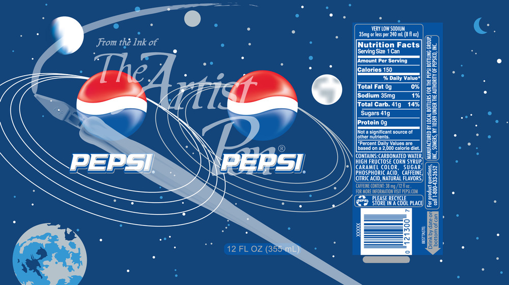 Artist Pen - Pepsi Can space theme