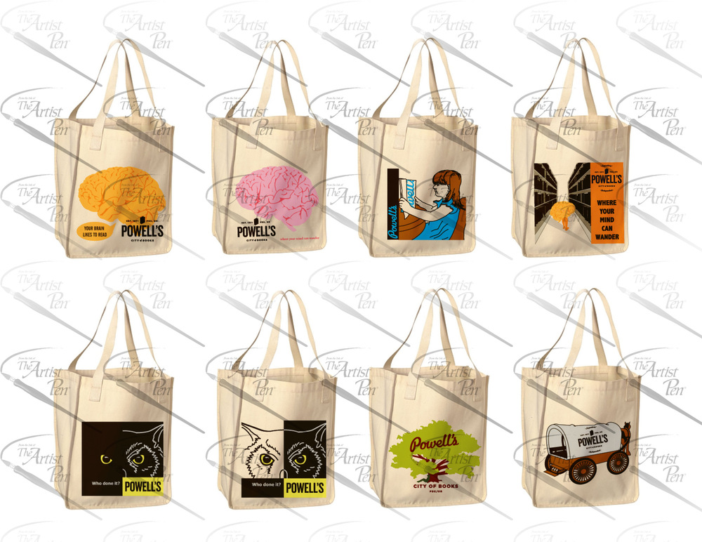 Artist Pen - Multiple Bag Designs for a Book Bag Competition