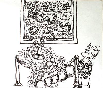 Artist Pen - pen and ink drawing illustration
