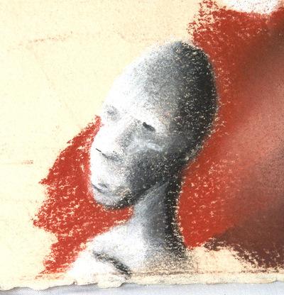 Artist Pen - Conte crayon drawing