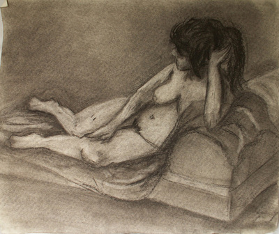 Artist Pen - Charcoal drawing from figure class
