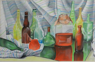 Artist Pen - pastel drawing still life