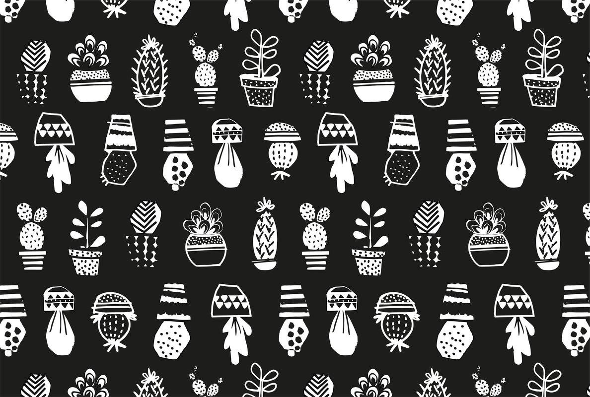 mfa -- designer textile - cactus -- projet personnel