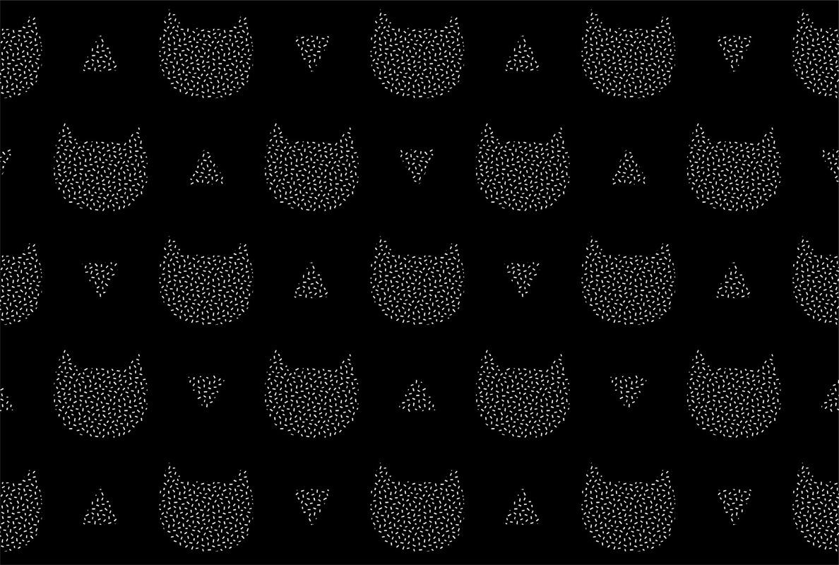 mfa -- designer textile - chats confettis -- projet personnel